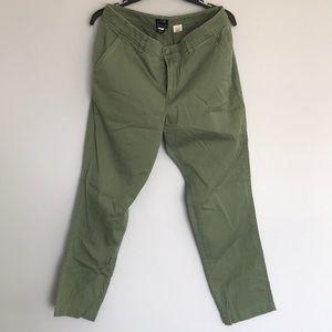 Green denim jeans